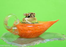 Vintage Murano Art Glass Table Aladin Light Lighter, Seguso, Sommerso, Orange