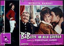 BABETTE S'EN VA T'EN GUERRE Italian fotobusta photobusta movie poster 1 BARDOT
