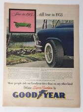 Original Print Ad 1953 GOOD YEAR Tires Still True 1915 More People Ride