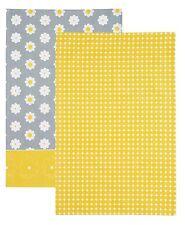 Kitchen Craft Retro Flower Set Of 2 Tea Towels