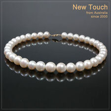 AA+ grade 11~13mm white pearl necklace with 14K clasp