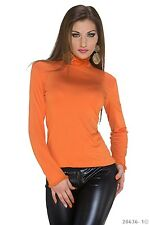 Roll Neck Shirt Top Blouse Pullover Long Sleeve Shirt Basic Top Casual Fitted