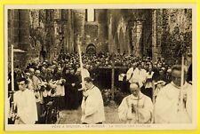 cpa 22 - PLÉNÉE JUGON Fête à l'ABBAYE CISTERCIENNE de BOQUEN Moines Curés Clergé