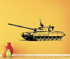 Tank Wall Decal War Panzer Army Military Vinyl Sticker Kids Room Art Decor 51thn