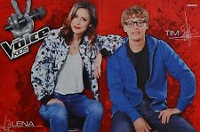 LENA MEYER-LANDRUT & TIM BENDZKO - A3 Poster (ca. 42 x 28 cm) - Clippings NEU