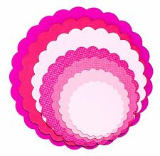 Sizzix Framelits Scallop Circle set #657552 Retail $19.99 8 Perfect Circles