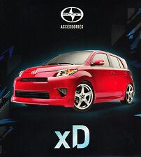 2011 2012 Scion xD  Accessories Original Sales Brochure Catalog