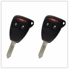 2Pcs 3 Button Remote Key Shell Case For Dodge Chrysler Magnum Dakota Charger FOB