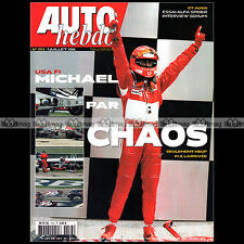 AUTO HEBDO N°1553 MICHAEL SCHUMACHER ALFA SPIDER JOHNNY RIVES SCOTT SPEED 2006