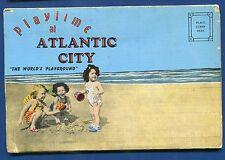 Atlantic City New Jersey nj postcard folder children on the beach