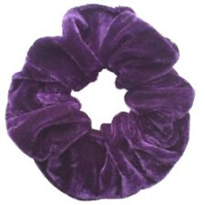 Coloured Velvet Feel Medium Sized Hair Scrunchie Bobble Hair Band Elastic