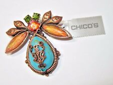 CHICO'S UNUSED NEW OLD STOCK W TAGS LARGE INSECT PIN LOVE BUG COLORFUL COPPER