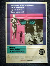 ONCE YOU KISS A STRANGER Original Vintage 1960s Movie Poster Carol Lynley