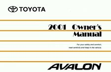 2001 Toyota Avalon Owners Manual User Guide Reference Operator Book Fuses Fluids