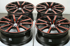 18 5x114.3 Red Wheels Fits Lexus Altima Maxima Sentra Accord Mazda 3 6 929 Rims