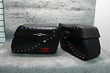 Suzuki OEM Genuine Leather Touring Saddlebags w/ Supports Boulevard C50