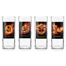 The Hunger Games MOCKINGJAY POSTER ART HIGH BALL GLASS SET Christmas Gift
