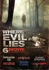Where Evil Lies Horror 6-Pack DVD Candy Stripers/Incubus/Wind Chilld/Devour
