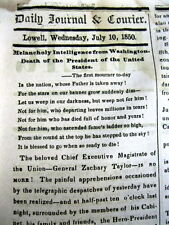 3 1850 newspapers DEATH o ZACHARY TAYLOR Millard Fillmore now President ofThe US