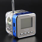 Blue TT028 Portable Mini Speaker MP3 Player FM Radio USB Disk Micro SD TF Card