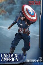 Hot Toys Captain America Civil War Chris Evans 1:6 Figure Damaged Brown Shipper