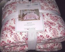 NWT Simply Shabby Chic Red & White COUNTRY PAISLEY Quilt King Size Reversible