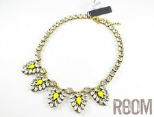 Authentic J.Crew Crystal and neon chevron necklace
