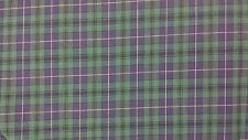 TARTAN PLAIDS ANDERSON GREEN BLUE AND YELLOW STRIPE PLAID POLY/COTTON FABRIC BTY