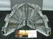 Waterford Crystal Pair of DORSET Fan BOOKENDS New in Box 107534 $225