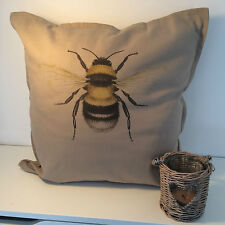Bumble Bee Cushion Large 50x50cm Home Decorative Cotton Linen Cushion Cover