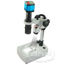 14MP HDMI Industrial Microscope Camera Top Light Stand 180X C-MOUNT Zoom Lens