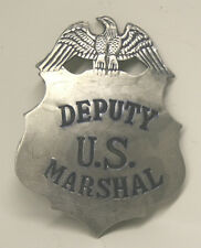Large DEPUTY US MARSHAL Shield Badge with Egale Badge Reproduced