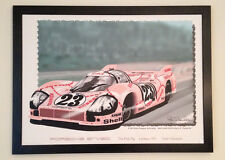 Porsche 917-20  The Pink Pig  30 x 40 canvass print framed.
