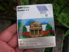 BMW EUROPE - INT. CLUB MEETING RIJEKA OPATIJA JUGOSLAVIA 1989 Badge
