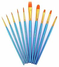 Paint Brush Set Acrylic Xpassion 10pcs Professional Paint Brushes Artist NEW