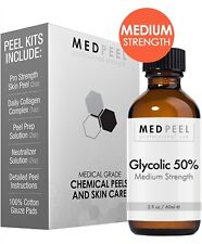 50% Glycolic Acid Chemical Peel - At Home Professional Grade 4 Piece Kit