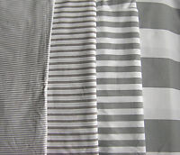 Grey&White Striped fabric  100&Cotton 4 sizes of Stripes fabric Ticking Fabric