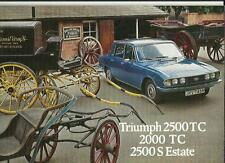 TRIUMPH 2500 TC, 2000 TC AND  2500 S ESTATE SALES BROCHURE JUNE 1976