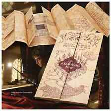 Harry Potter Parchment Marauder's Marauders Map Authentic Noble Replica Hogwarts