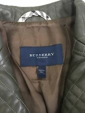 Authentique burberry veste en cuir