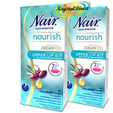 2x Nair Gentle & Effective Upper Lip Face Facial Hair Remover Removal Cream Kit