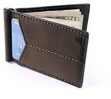Andar Mens Leather Money Clip, Front Pocket Minimalist Card Holder RFID Wallet