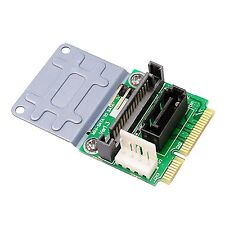 MSATA to SATA Adapter Card Mini SATA to 7pin SATA Converter with Power Slot