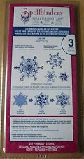 Spellbinders Shapeabilities Die Set, Dimensional Snowflakes, S5-186, New