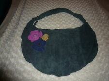 STEVE MADDEN BLUE SUEDE SHOULDER PURSE MEDIUM SIZE.... VERY NICE LOOKING !