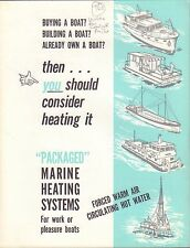 Packaged Marine Heating Systems Shaw-Perkins Brochure 1962  091416DBL2
