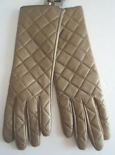 Ladies Long Quilted Genuine Leather Gloves,Large, Style 5655