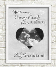ultrasound scan print a4 pregnancy keepsake gift baby shower picture