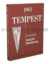 1963 Pontiac Tempest Shop Manual LeMans Safari Repair Service Book