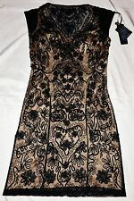 Sue Wong Dress Style N1119  Black/Nude Stunning Embriodered Dress UK 8/10 *BNWT*